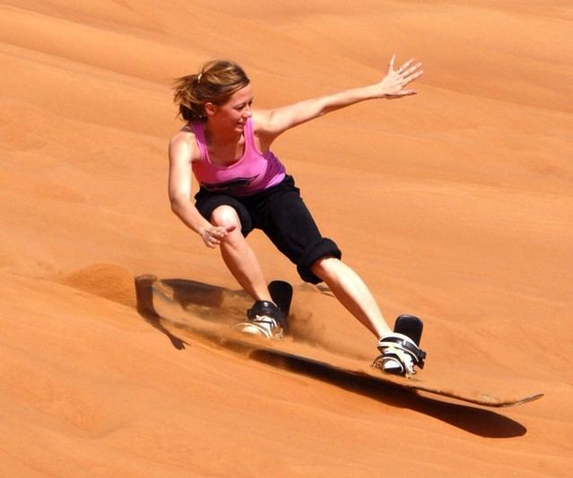 Sand-boarding is incredibly fun